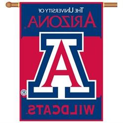 Bsi Products Inc Arizona Wildcats 2-Sided Banner with Pole S