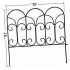 decorative garden fence coated metal outdoor rustproof 32in