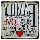Nafico Decorative Signs Metal Iron Tin Sign Family Love Wall