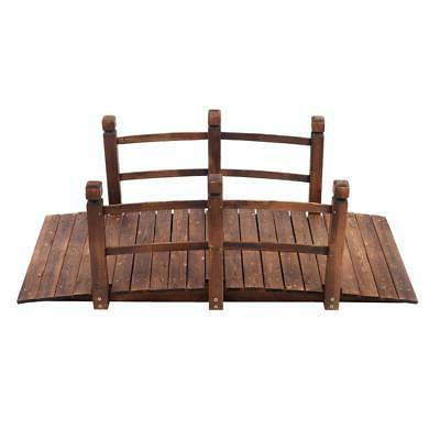 Decorative Wood Pond Bridge Walkway 4.9ft.Patio