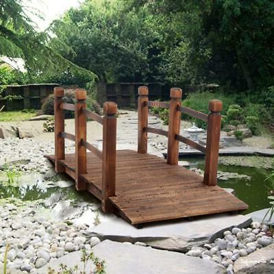 Decorative Wood Home Pond Arch Walkway 4.9ft.Patio