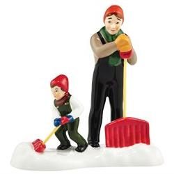 Department 56 Accessory It Takes Two To Shovel A Village Sno
