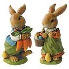 DESIGNER Bunny RABBIT FAMILY Figurine Set OUTDOOR Decor GARD