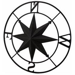 Distressed Finish 26 Inch Diameter Compass Rose Nautical Wal