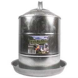 Double Wall Cone Top Galvanized Poultry Wall Fount 3 Gallon