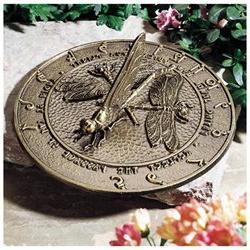 Whitehall Dragonfly Sundial - French Bronze