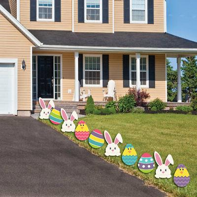 Easter Bunny Yard Decorations Outdoor Easter Lawn 10 Pc