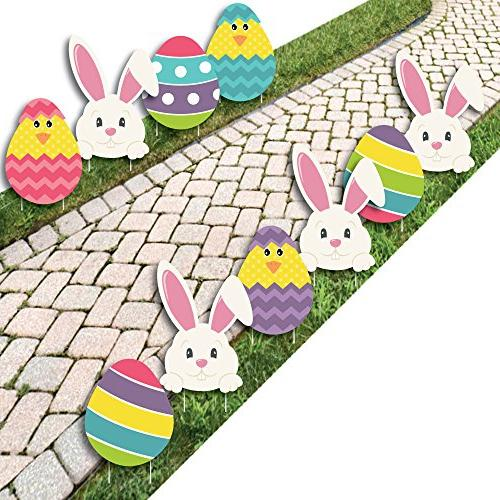 easter bunny egg yard decorations