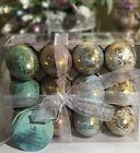 EASTER EGGS IN CARTON PINK BLUE GREEN WHITE SPECKLED GOLD FO