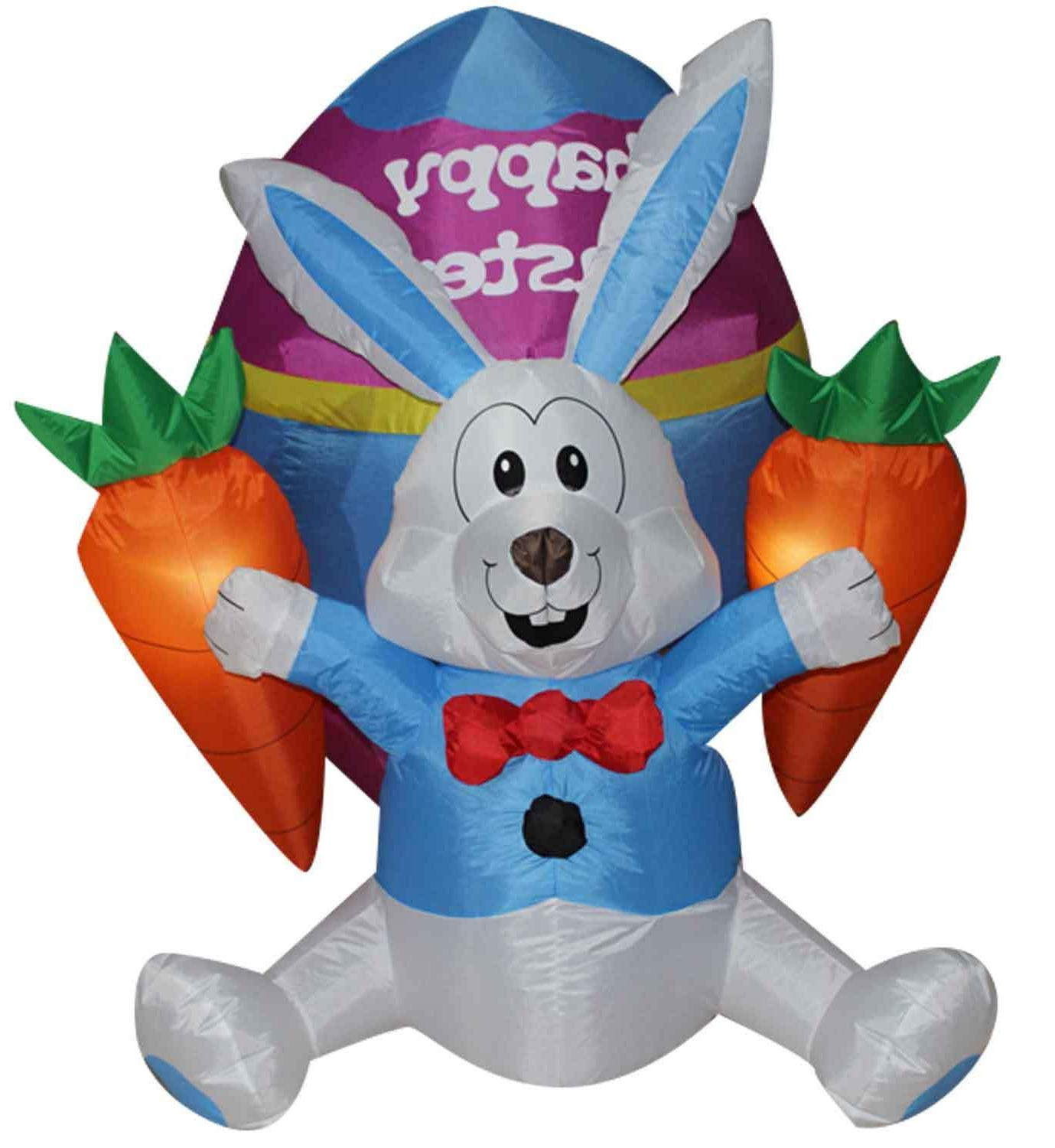 easter inflatable bunny decoration outdoor holiday easter