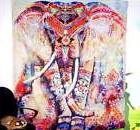 Elephant Mandala Tapestry Wall Hanging Hippie Ethnic India D