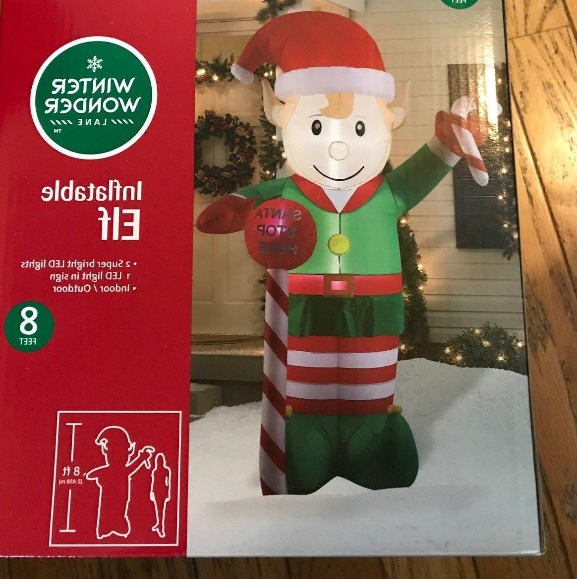 elf airblown inflatable 8 ft tall christmas