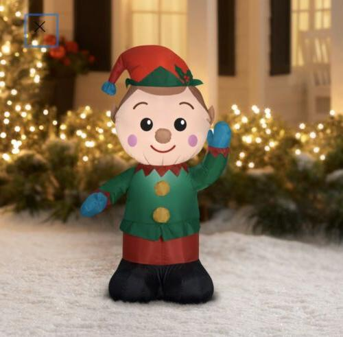 elf inflatable 4 ft tall