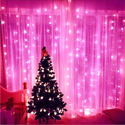 ER 99ft LED Pink Remote, Indoor/Outdoor Decorative Lights for Patio, Garden, Party