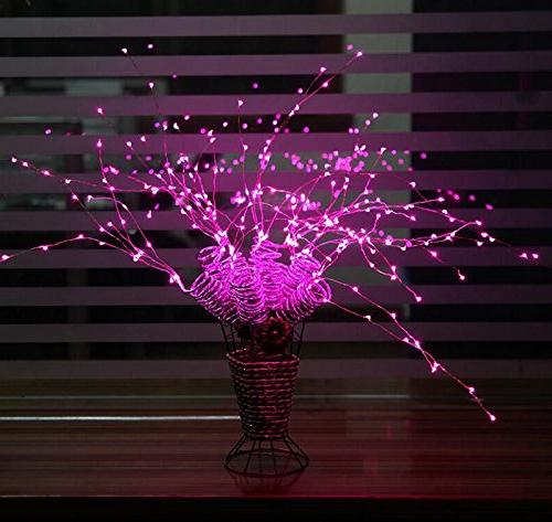 ER CHEN LED String 99ft 300 Waterproof Pink Fairy Lights Remote, Copper Wire Decorative for Bedroom, Patio,