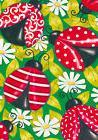Fancy Ladybugs Spring Garden Flag Daisy Decorative Polka Dot