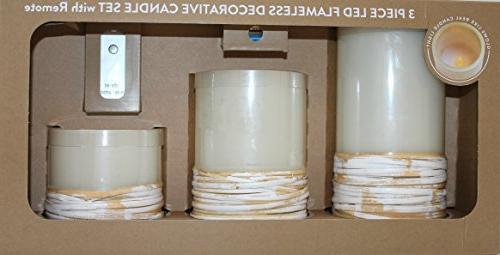 flameless decorative pillar candle set