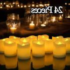 24PCS Flameless Votive Candles Battery Operated Flickering L