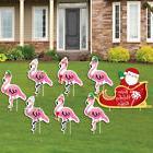 Flamingle Bells - Tropical Flamingo Christmas Yard Signs & D