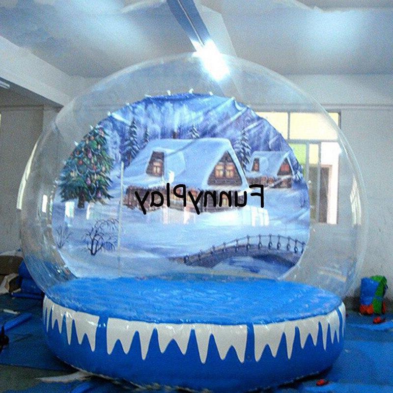 <font><b>snow</b></font> Christmas diy globle bubble tents,inflatable <font><b>yard</b></font> tent