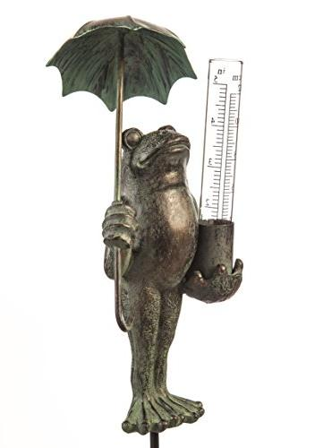 Frog Decorative Rain Guage