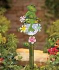 Frog Theme Floral Garden Stake Solar Power Path Light Outdoo