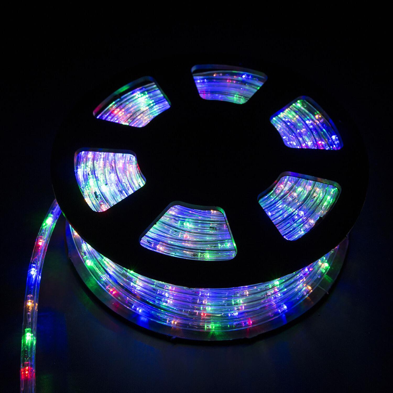 100' Ft Xmas LED Rope Lights 110V Yard Home Party Decorative