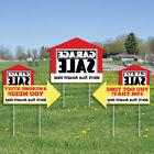 Garage Sale Signs - Yard Sign with Stakes - Double Sided Out
