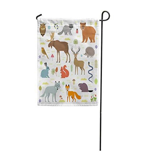 garden flag forest animals moose