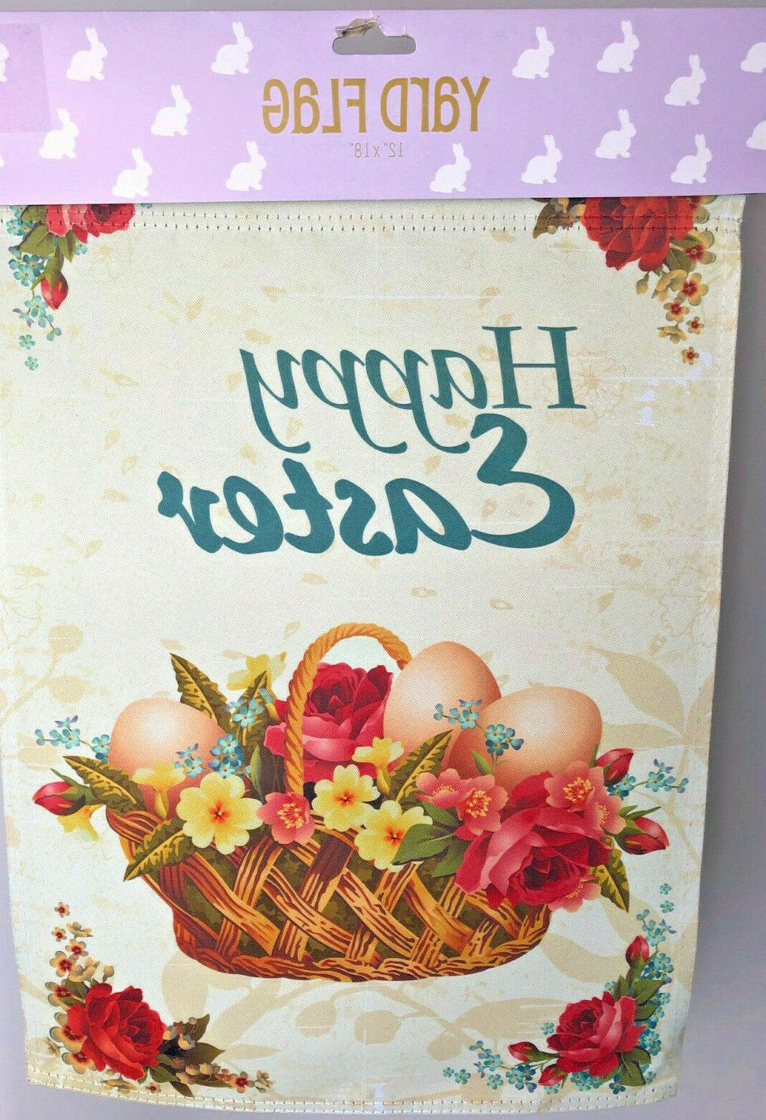 Garden Mini Banner Easter Basket, Halloween, Home Flags