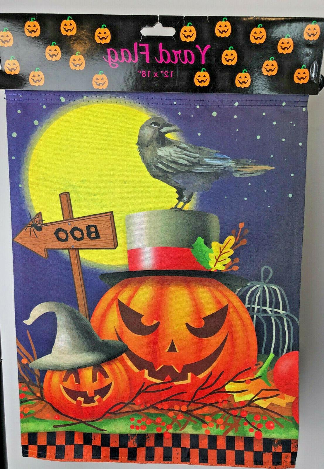 Garden Flag Yard Banner Halloween,