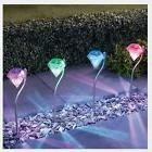 Garden Lawn Solar Power LED Diamond Path Lights Lamp Outdoor
