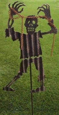 Garden Lawn Yard Decoration Halloween Zombie chains metal pi