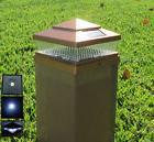 10-Pack Garden Solar COPPER Cap LED Lights For 6x6 PVC Vinyl