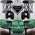 Outdoor Garden Solar Light 6pc Set LED Pathway Wall Mounts F