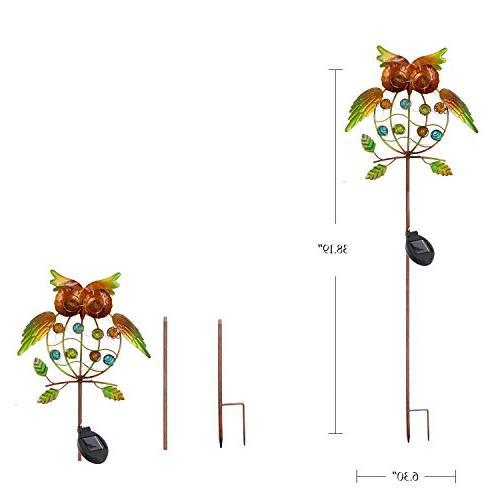 TAKE ME Garden Lights Outdoor,Solar Powered Lights OWL LED Decorative Garden Lights for