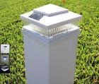 4-Pack Garden Solar White Cap LED Lights For 6x6 PVC Vinyl /