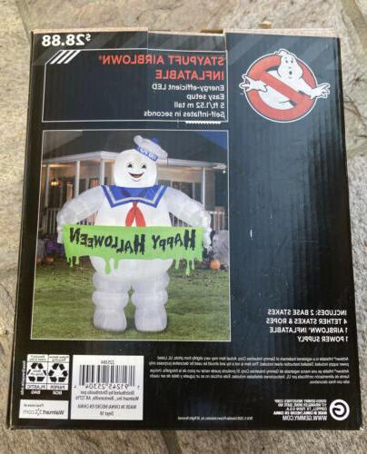 GHOSTBUSTERS 5 Stay Puft Marshmallow Light Airblown Inflatable Gemmy NEW