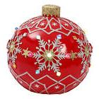 Giant 18-Inch LED Light Up Red Jumbo Musical Christmas Ornam