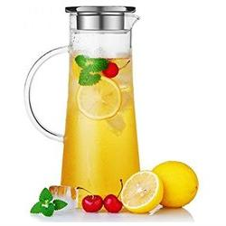 Hiware Glass Water Carafe and Drink Infuser with Stainless S