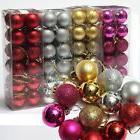 24Pcs Glitter Christmas Ball Baubles Xmas Tree Baubles Hangi
