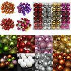 24Pcs Glitter Christmas Balls Baubles Xmas Tree Hanging Orna