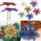 10 Pcs Wholesale New Glitter Christmas Hollow Flowers Xmas T