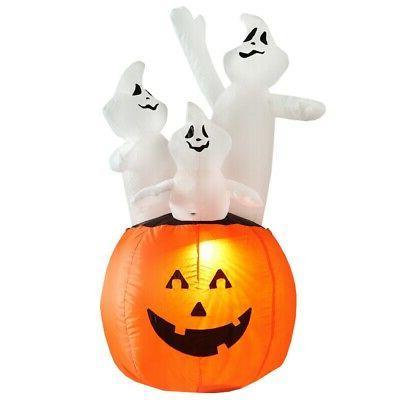 halloween decoration 4 feet inflatable pumpkin ghost