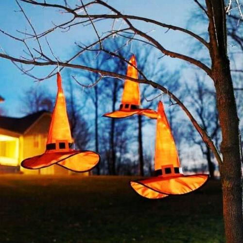 Halloween Decoration Outdoor Lighted Glowing Witch String Yard