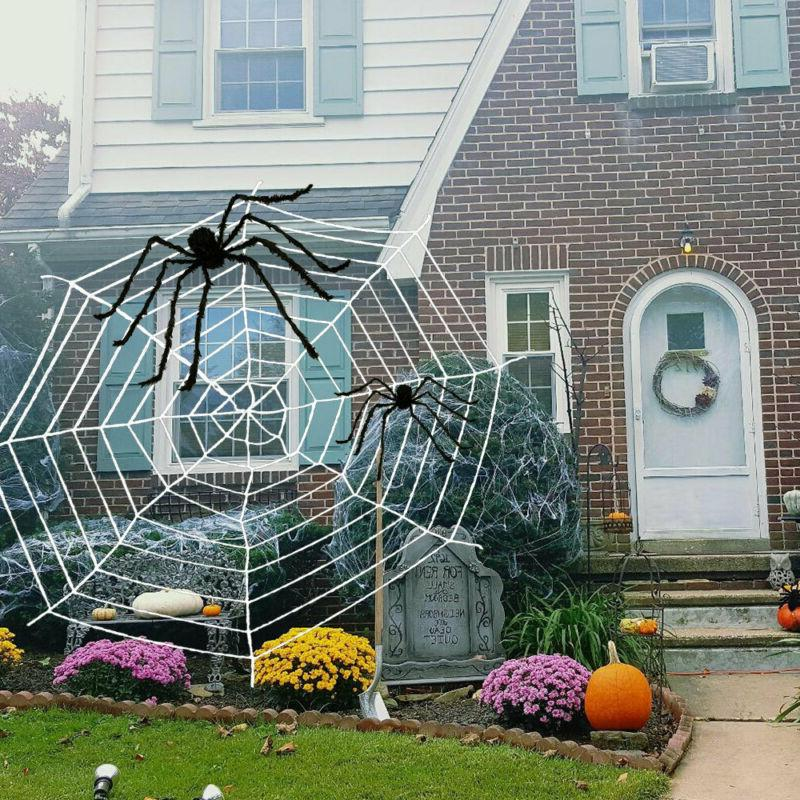 Halloween Hanging Decoration Giant Realistic Hairy SPIDER Ou