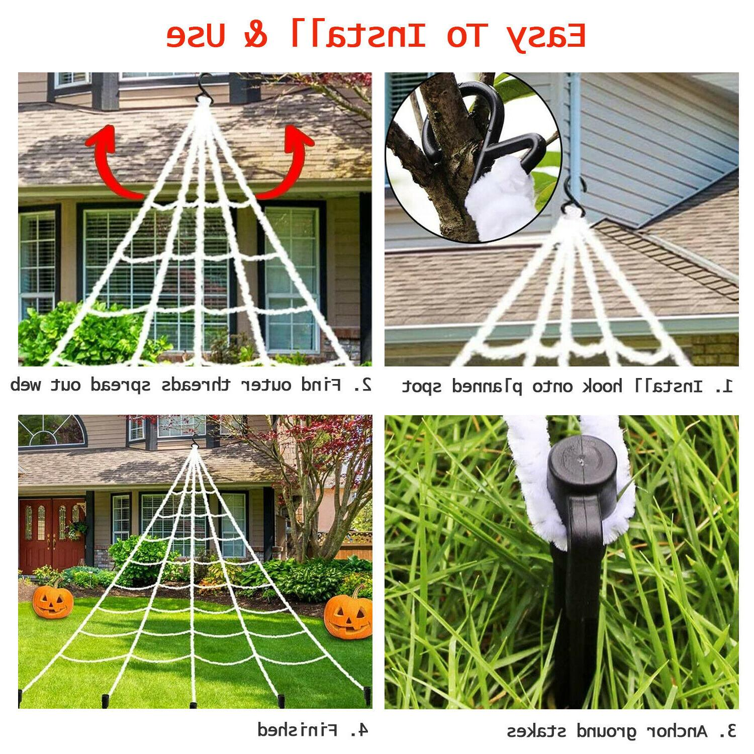 Halloween Outdoor 23*18 Giant Spider Web / Large