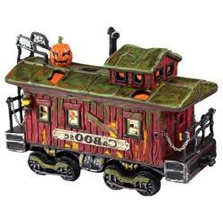 Halloween Snow Village from Haunted Rails Caboose - Departme