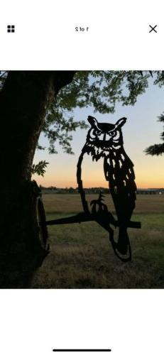 Hammer In Bird Owl Garden Yard Art