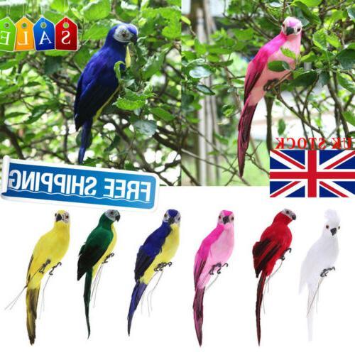 Handmade Parrot Bird Lawn Ornament Yard Decor Rose US
